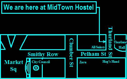 Midtown Hostel, Nottingham, England, England hostels and hotels