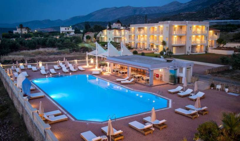 Notos Heights Hotel and Suites - Search available rooms and beds for hostel and hotel reservations in Malia, hostels with travel insurance for your booking in Limín Khersonísou (????? ??????????), Greece 38 photos