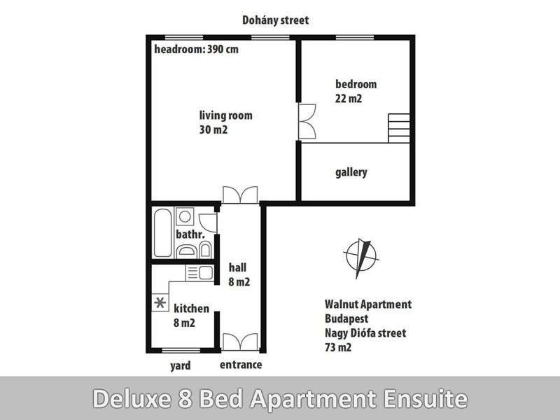 Walnut Apartment, Budapest, Hungary, preferred site for booking holidays in Budapest