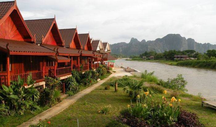 River View Bungalows - Search available rooms and beds for hostel and hotel reservations in Muang Vangviang, cheap hostels 8 photos