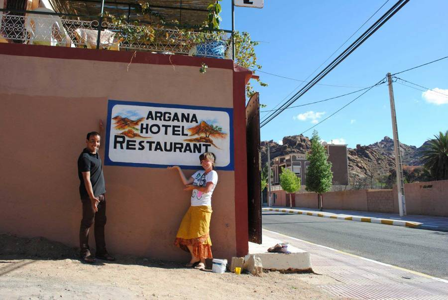 Argana Hotel, Tafraout, Morocco, Morocco hostels and hotels