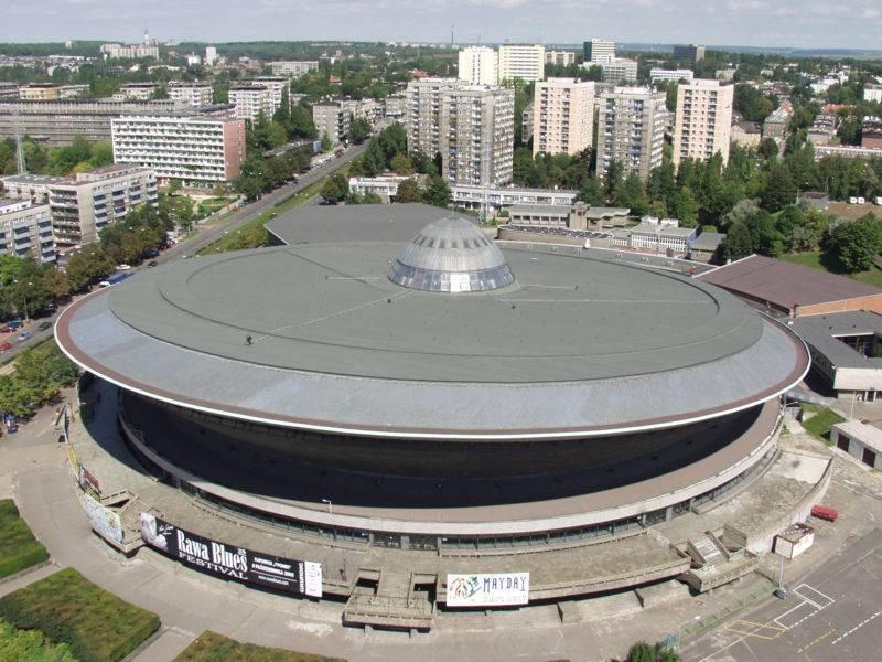Olympia Spodek, Katowice, Poland, hieno lomat sisään Katowice