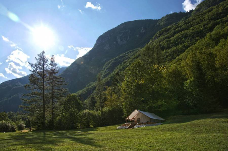 Eco Camp Canyon - Open Air Hostel Soca, Bovec, Slovenia, bed & breakfasts for vacationing in summer in Bovec