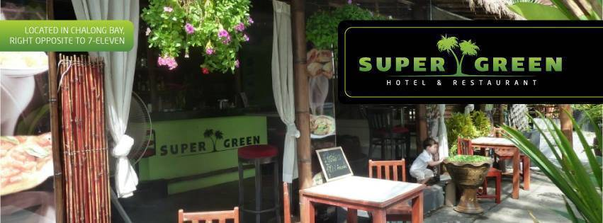 Super Green Hotel Bar Restaurant, Ban Chalong, Thailand, Thailand hostels and hotels
