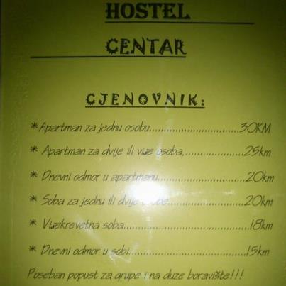 Hostel Centar I, Banja Luka, Bosnia and Herzegovina, youth hostels and cheap hotels, stay close to what you want to see and do in Banja Luka