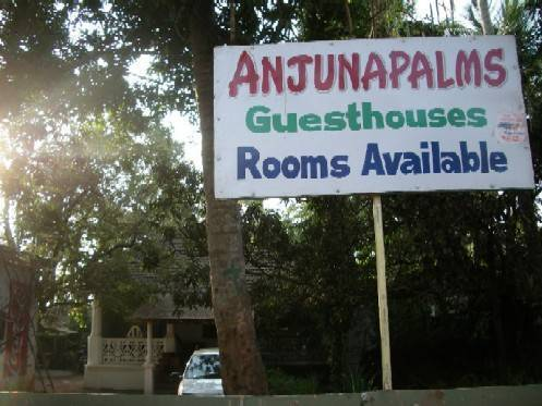 Anjunapalms Guesthouses, Anjuna, India, India hostels and hotels