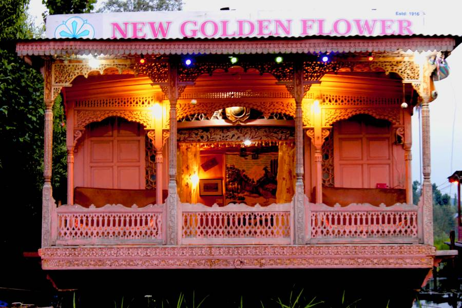 Houseboat New Golden Flower Group, Srinagar, India, India bed and breakfasts and hotels