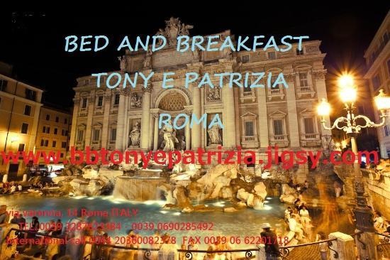 Bed and Breakfast Tony e Patrizia, Rome, Italy, Italy hostels and hotels