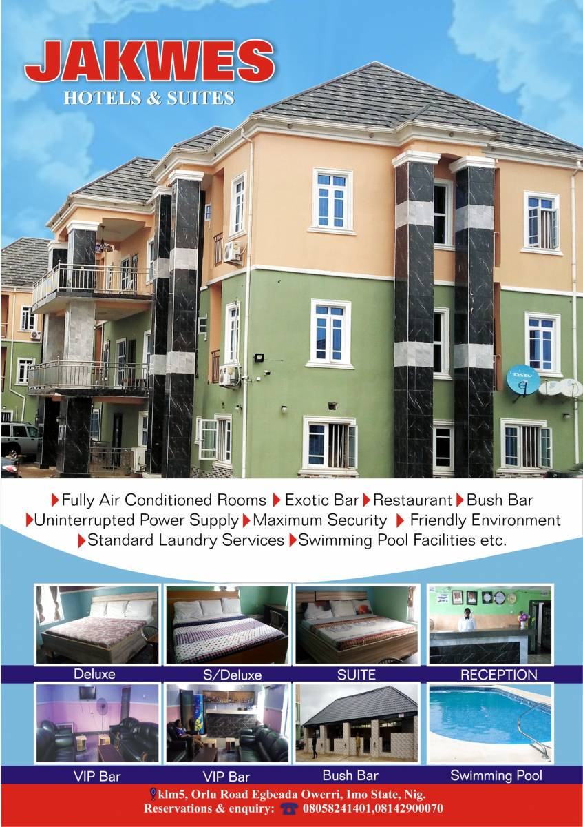 Jakwes Hotels and Suit Ltd, Owerri, Nigeria, Nigeria hostels and hotels