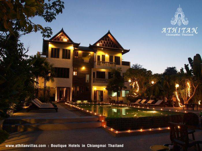 Athitan Villas, Chiang Mai, Thailand, Thailand giường ngủ và bữa ăn sáng và khách sạn
