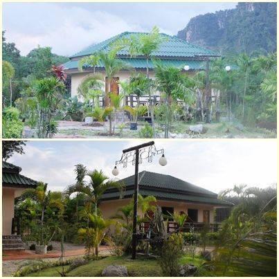 Saithai Garden Home Villa, Ao Nang, Thailand, Thailand giường ngủ và bữa ăn sáng và khách sạn