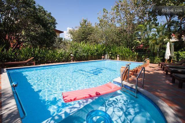 Thai-Bamboo Guesthouse Resort, Cha-am, Thailand, Thailand giường ngủ và bữa ăn sáng và khách sạn
